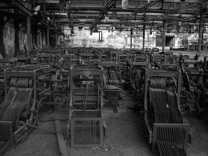 Girangaon - Abandoned machinery at Madhusudan mills, Lower Parel