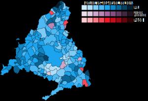 Madrid (Congress of Deputies constituency) - Image: Madrid Municipal Map Congress 2016