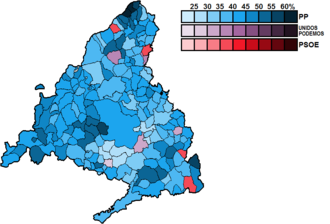 Madrid (Congress of Deputies constituency) - Image: Madrid Municipal Map Congress 2016