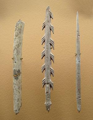Magdalenian - Image: Magdalenian tools 17000 9000 BCE Abri de la Madeleine Tursac Dordogne France