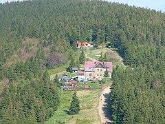Widok z Klimczoka na Magurę w Beskidzie Śląskim