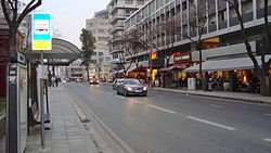 Makariou shopping avenue in downtown Nicosia, Cyprus.JPG