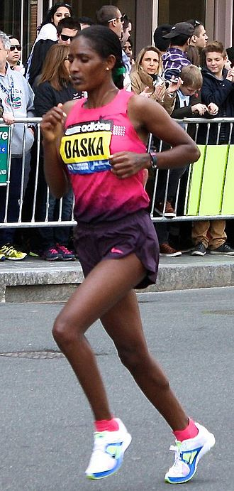 Mamitu Daska - Mamitu Daska at the 2013 Boston Marathon