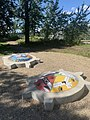 Mamohkamatowin (Helping Each Other) by Jerry Whitehead at the Indigenous Art Park ᐄᓃᐤ (ÎNÎW) River Lot 11∞ 04.jpg