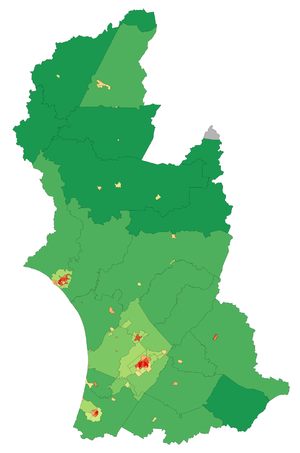 Manawatu-Wanganui -  Population density in Manawatu-Wanganui at the 2006 census
