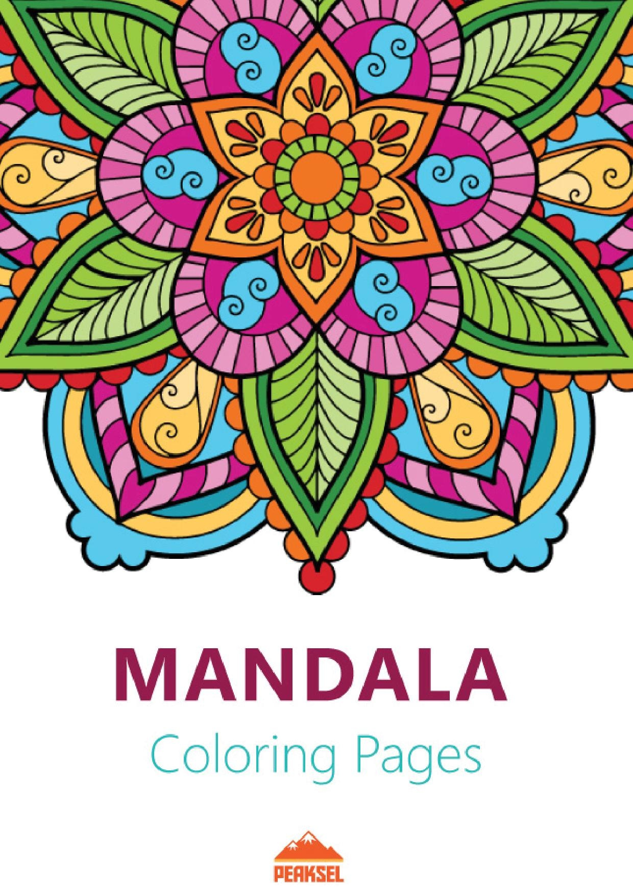 Vaak File:Mandala Coloring Pages for Adults - Printable Coloring Book &AZ28