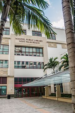Mandel Public Library Of West Palm Beach Courtyard Entrance Jpg