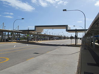 Mandurah railway station - Bus interchange in September 2012