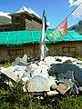 Mani stones & prayer flags. Gandhola Monastery. Lahaul.jpg