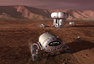 "Mars rover - DRMA 5.0 ""commuter"" Mars base, Chemical Propulsion Option (2009)"