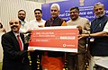 Manoj Sinha along with the Union Minister for Electronics & Information Technology and Law & Justice, Shri Ravi Shankar Prasad and the Deputy Chief Minister of Bihar.jpg