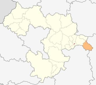 Koprivshtitsa Municipality - Image: Map of Koprivshtitsa municipality (Sofia Province)