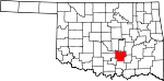 State map highlighting Pontotoc County