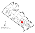 Map of Richboro, Bucks County, Pennsylvania Highlighted.png