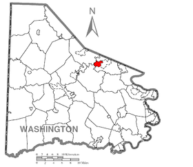 Map of Thompsonville, Washington County, Pennsylvania Highlighted.png