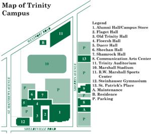 Trinity High School (Louisville) - Map of Trinity High School 2017