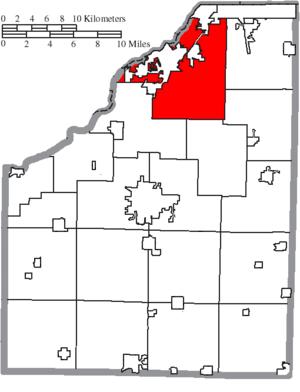 Perrysburg Township, Wood County, Ohio - Image: Map of Wood County Ohio Highlighting Perrysburg Township
