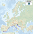Map of the European Long Distance Path E12.png