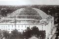 Maple Leaf Gardens' roof under construction, 1931 (public domain).png
