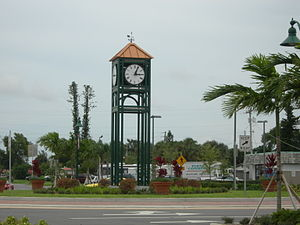 Margate, Florida - Clock tower near Margate city hall