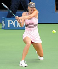 Maria Sharapova at the 2012 US Open.jpg