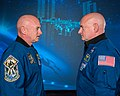 Mark and Scott Kelly at the Johnson Space Center, Houston Texas - profile.jpg