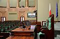 Marshal's chair Sejm Plenary Hall.JPG