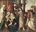 Martin Schaffner - Erster Wettenhauser Altar, Abschied Christi Rückseite, Geißelung Christi - 1414 - Bavarian State Painting Collections.jpg
