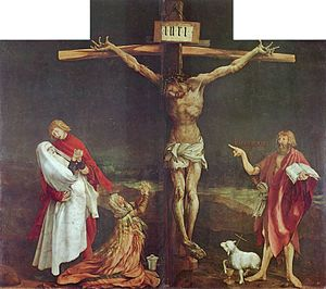 The Crucifixion, central panel of the Isenheim...