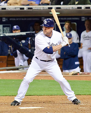 Matt Stairs - Stairs batting for the San Diego Padres in 2010.