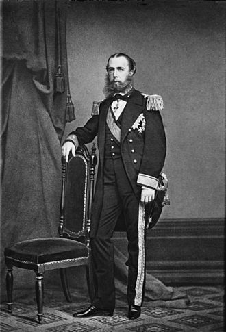 Austro-Hungarian Navy - Archduke Ferdinand Maximilian in naval uniform, c. 1864.