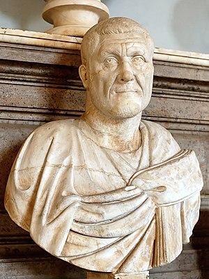 Portrait of Maximinus Thrax. Marble, Roman art...