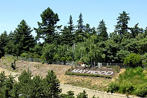 Hillside letters for Maywood Park