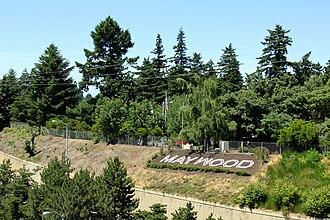 Maywood Park, Oregon - Hillside letters for Maywood Park