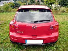 Mazda 3 Sport 1.6 MZR Exclusive Tornadorot Hinten.JPG