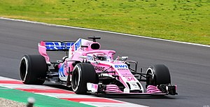 Mazepin Force India VJM11 Testing Barcelona.jpg
