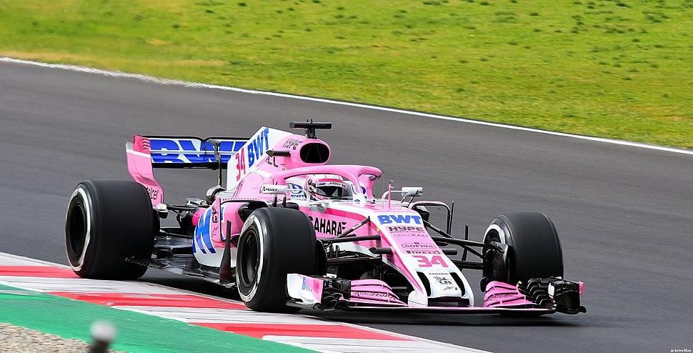 Mazepin Force India VJM11 Testing Barcelona