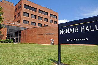 North Carolina A&T State University - Image: Mc Nair Hall View 2012f