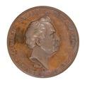 Medalj med konstnären Carl Johan Fahlcrantz i profil, 1837 - Skoklosters slott - 99288.tif