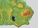 Medvezhia Caldera (Moyoro Caldera) Relief Map, SRTM-1.jpg