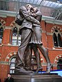 Meeting Place statue, St Pancras Railway Station, Euston Road NW1 - geograph.org.uk - 1324161.jpg