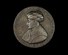 A bronze medal of Mehmed II the Conqueror