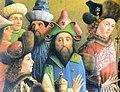 Meister der Darmstädter Passion - Anbetung der Heiligen Drei Könige, left panel, detail.jpg