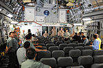 Members of the Kyrgyzstan military look at the inside of a C-17 Globemaster III cargo aircraft at a static display on the flightline of the Transit Center at Manas, Kyrgyzstan, Aug. 24, 2010 100824-F-RX342-015.jpg