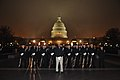 Members of the U.S. Navy honor guard stand in formation in front of the U.S. Capitol building before the dress rehearsal for the presidential inauguration in Washington, D.C 130113-F-AV193-032.jpg
