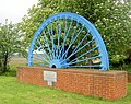 Memorial pit headgear wheel. - geograph.org.uk - 493082.jpg