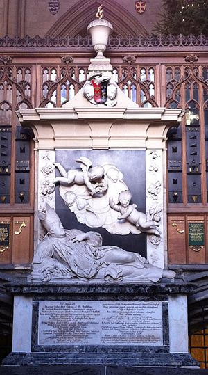John Dolben - Memorial dating from 1688 to Archbishop John Dolben in York Minster by Grinling Gibbons