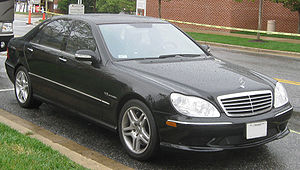 Kompressor (Mercedes-Benz) - A Mercedes-Benz S 55 AMG (W220), the only iteration of the S-Class offered with Kompressor