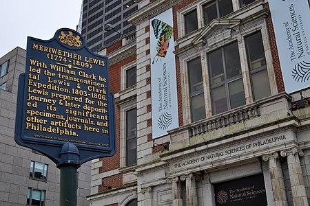 Meriwether Lewis Historical Marker 1900 Benjamin Franklin Pkwy Philadelphia PA (DSC 3242)