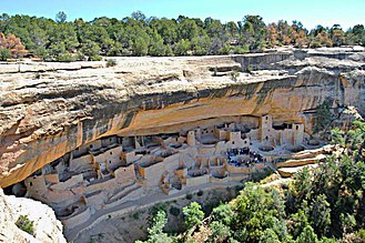 Architecture of the United States - Cliff Palace, an ancient dwelling complex in Colorado.